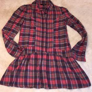 Ladakh Button-Down Flannel Dress